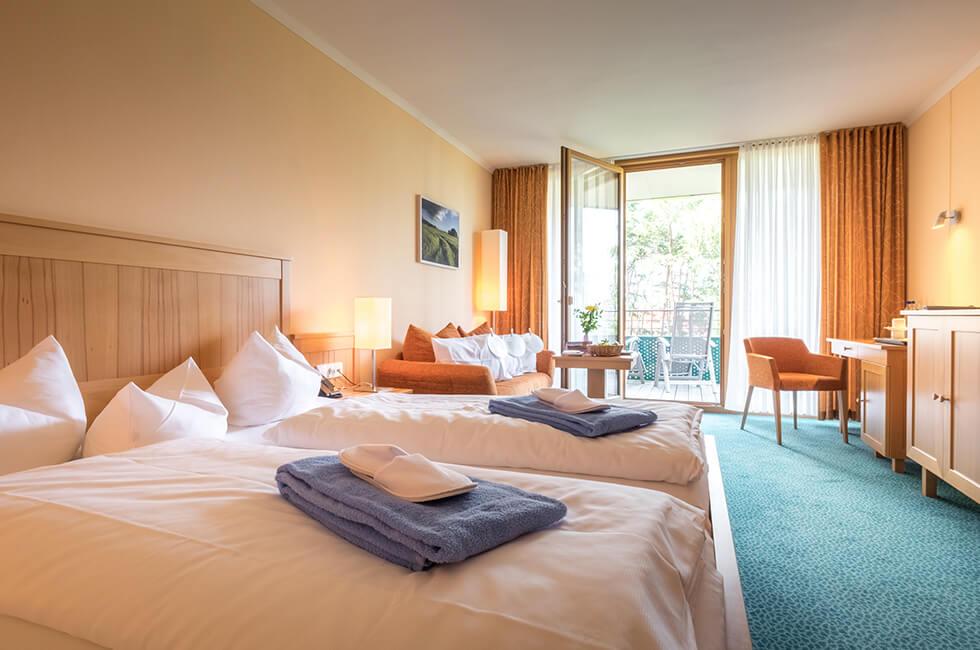 Doppelzimmer Premium mit Balkon im Gesundheitshotel Waren (Müritz)