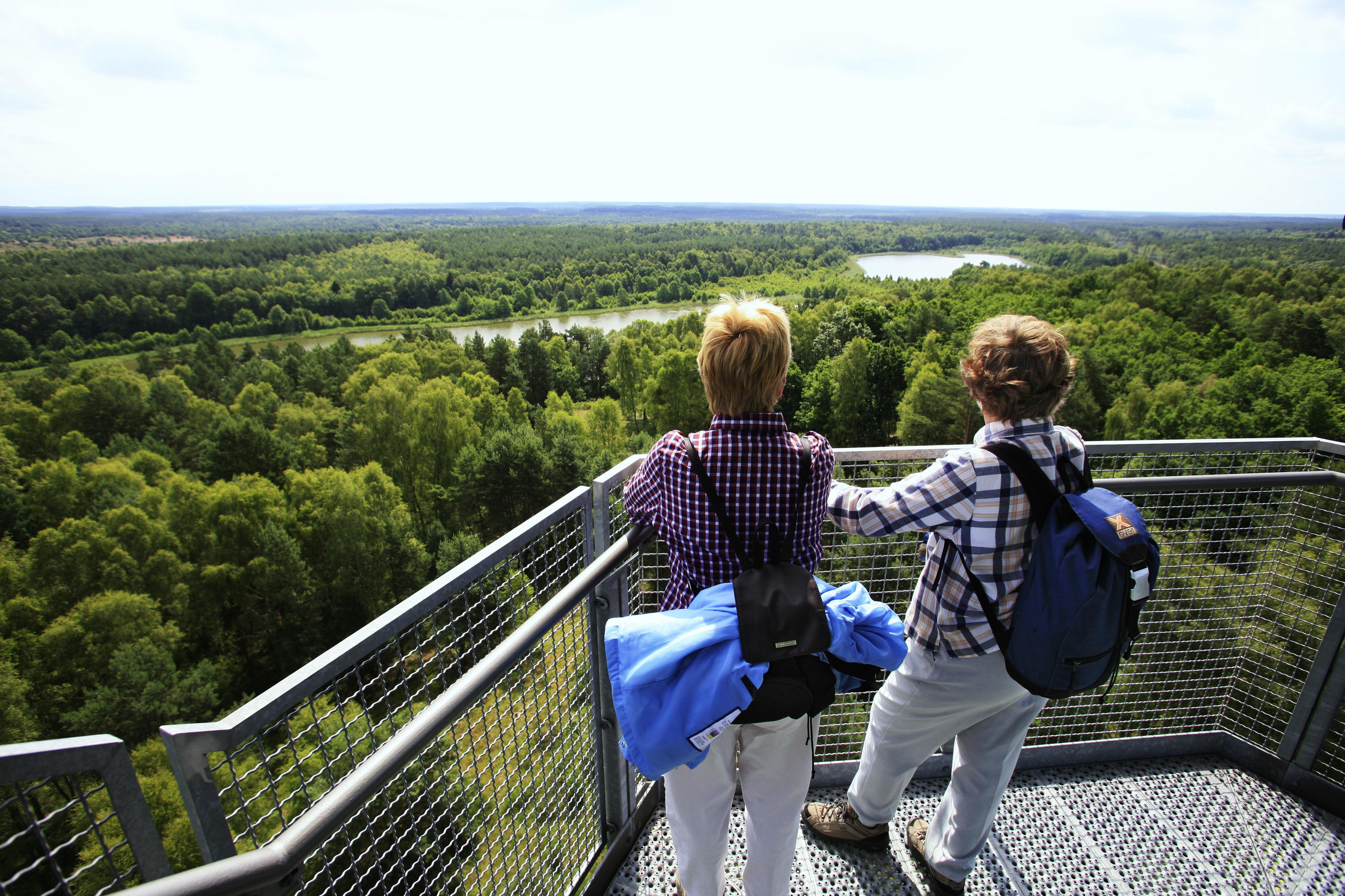Nationalpark Mueritz: Aussicht vom Kaeflingsberger Turm, © 1000seen Frischmuth