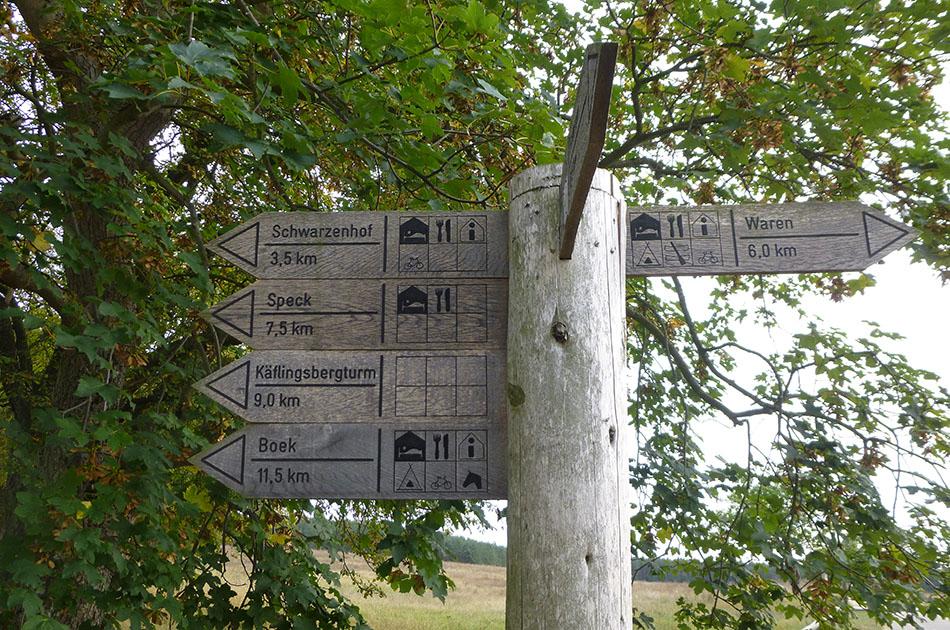 Radtour Müritz: Radwegenetz, Schilder