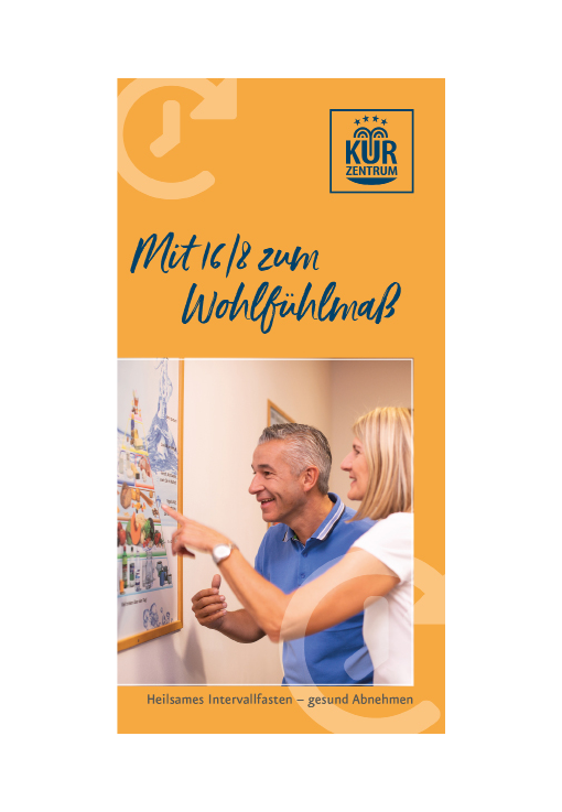 Informationsflyer zu Intervallfasten 16/8 im Kurzentrum Waren (Müritz) 2020